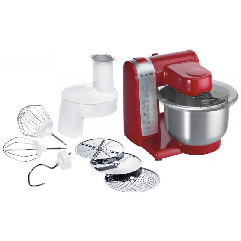 Robot de cuisine bosch mum48r1 600 w rouge for Robot cuisine multifonction bosch