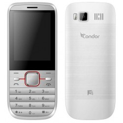 Téléphone Portable Condor F4 / Double SIM / Blanc + SIM Offerte
