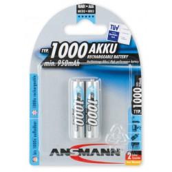 2x Piles Rechargeables Ansmann NiMH Micro AAA 950mAh
