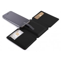 Power Bank Portefeuille SEYVR pour iPhone 1400 mAh / Noir