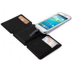 Power Bank Portefeuille SEYVR pour Smartphone 1400 mAh / Noir