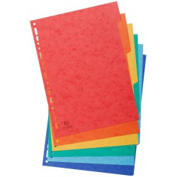 6x Intercalaires Carte lustrée Exacompta 6 positions A4