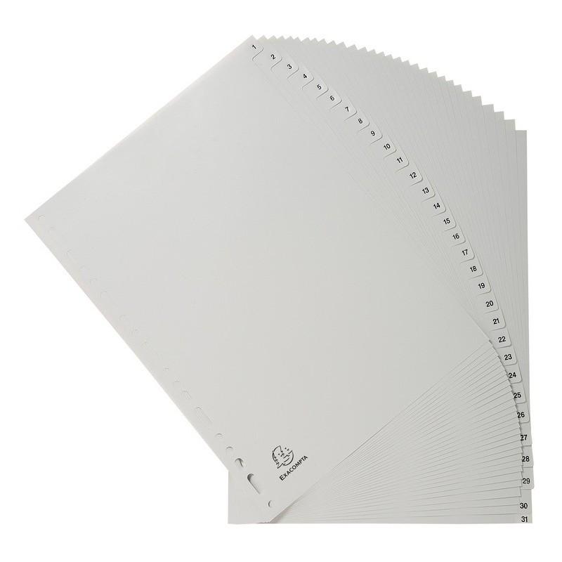 Intercalaires Imprimés Numériques Exacompta 31 positions A4
