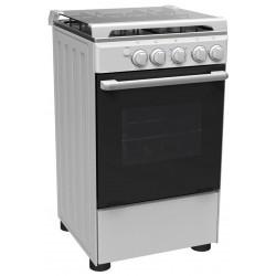 Cuisini re midea 4 feux 50 x 55cm silver - Cuisiniere 3 feux four electrique ...