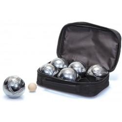 Set de 6 boules de Pétanque chromées Zimota