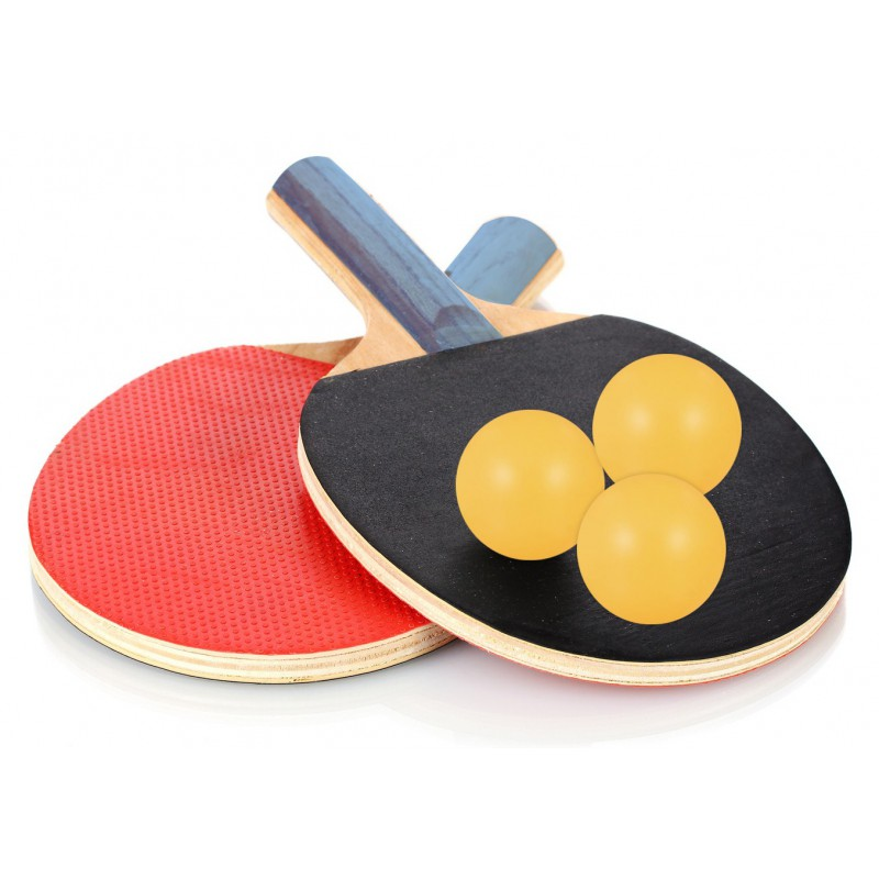Raquettes de tennis de table zimota 3 balles - Revetement de raquette de tennis de table ...