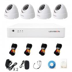 KitLS Vision DVR AHD 4 canaux + 4 Caméras 1MP