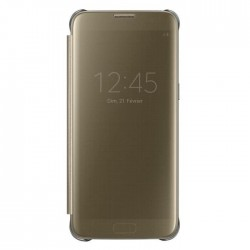 Etui Clear View Gold Original pour Galaxy S7 edge