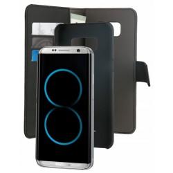 Etui Flip-cover Puro avec coque détachable pour Samsung Galaxy S8 / Noir