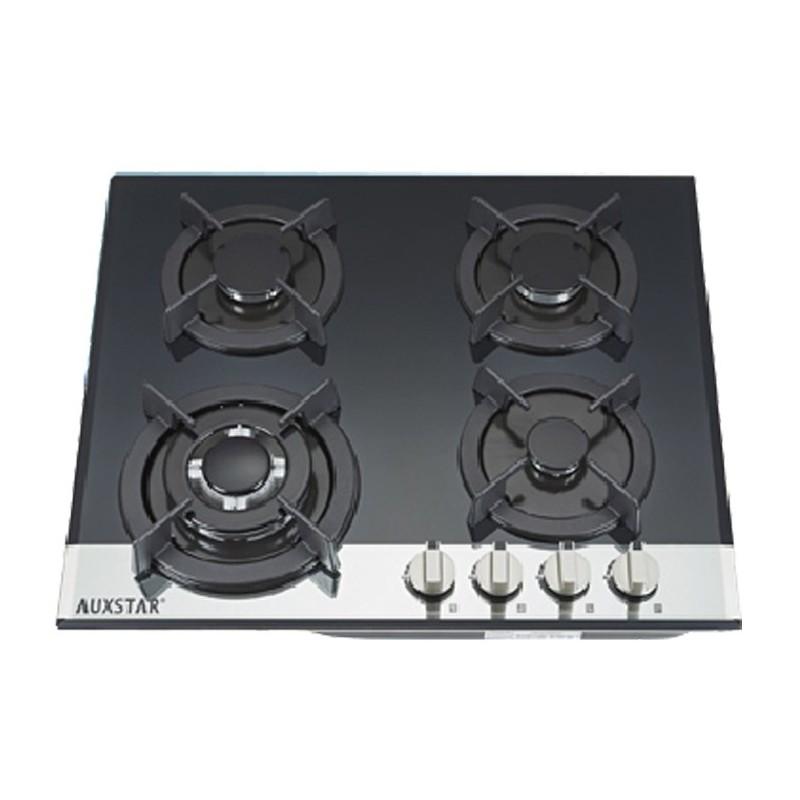plaque de cuisson auxstar 4f 500v noir vitr. Black Bedroom Furniture Sets. Home Design Ideas