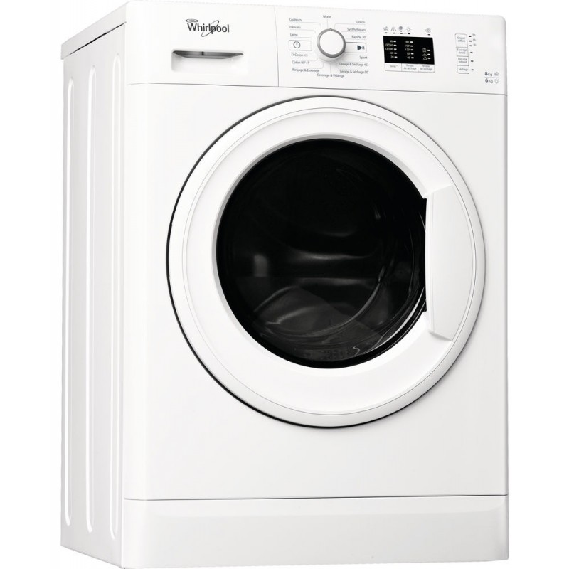 machine laver automatique whirlpool lavante s chante 8 kg blanc. Black Bedroom Furniture Sets. Home Design Ideas