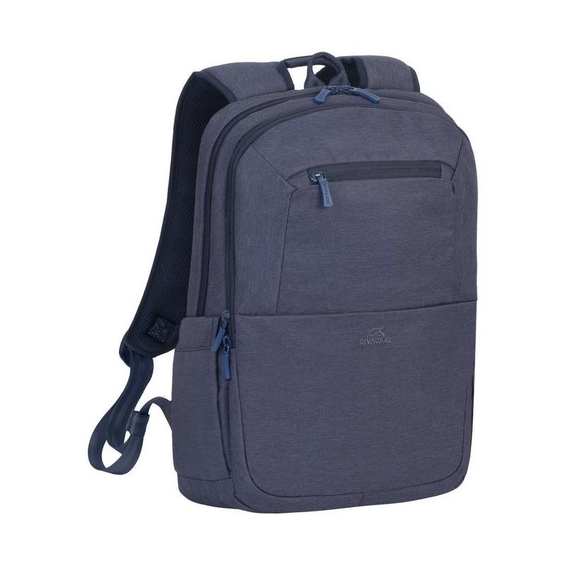 sac dos pour pc portable 15 6 rivacase 7760 bleu. Black Bedroom Furniture Sets. Home Design Ideas