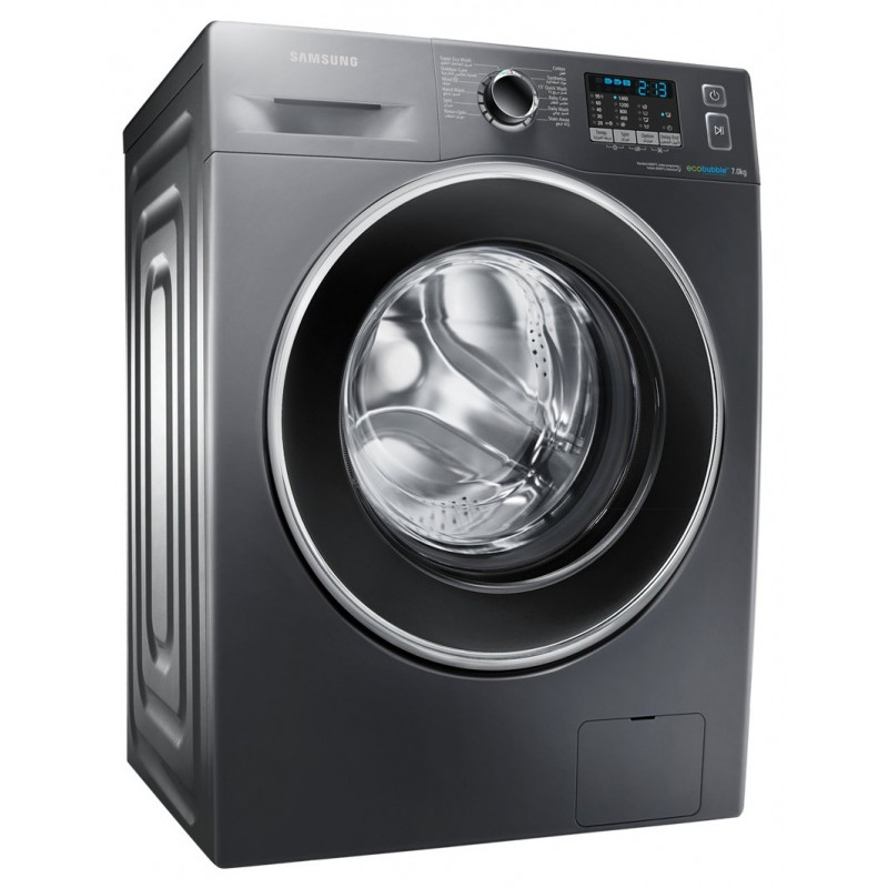 samsung eco bubble 7kg samsung 7kg eco bubble front loader washing machine silver samsung. Black Bedroom Furniture Sets. Home Design Ideas