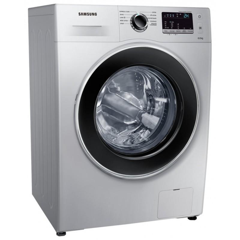 machine a laver samsung 6 kg ww3000j silver avec tambour diamond drum. Black Bedroom Furniture Sets. Home Design Ideas