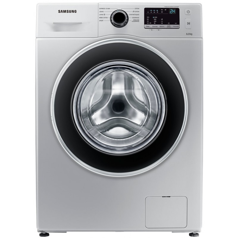 machine a laver samsung 6 kg ww3000j silver avec tambour. Black Bedroom Furniture Sets. Home Design Ideas
