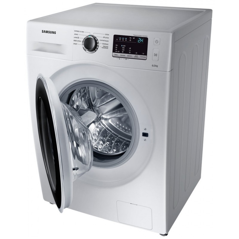 machine a laver samsung 6 kg ww3000j silver avec tambour diamond drum. Black Bedroom Furniture Sets. Home Design Ideas