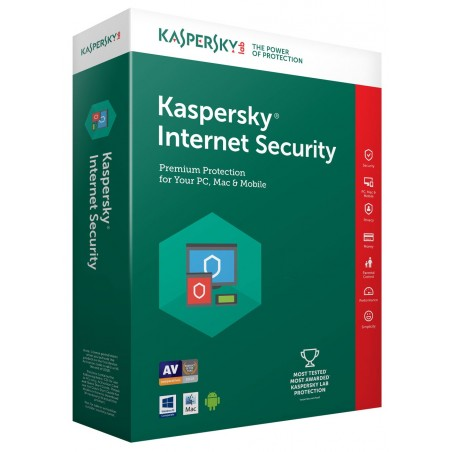 Kaspersky Internet Security 2018 - 1 an / 1 Pc