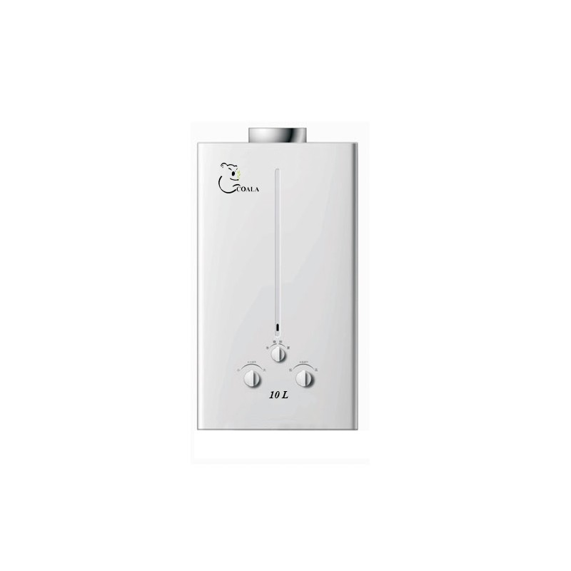 chauffe eau gaz naturel coala 10l blanc. Black Bedroom Furniture Sets. Home Design Ideas