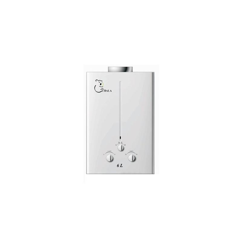 chauffe eau gaz naturel coala 6l blanc. Black Bedroom Furniture Sets. Home Design Ideas