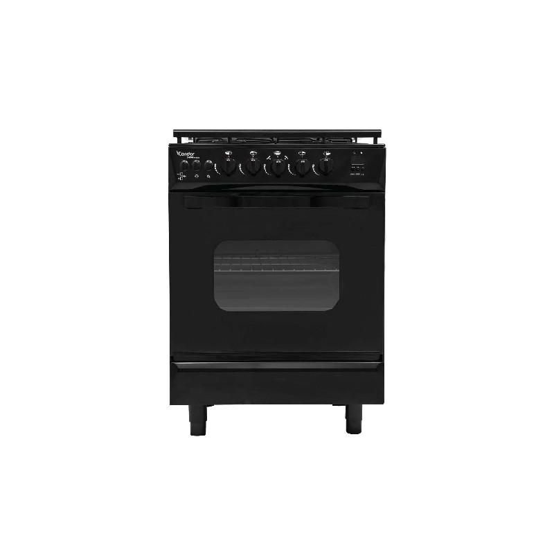 Cuisinière 4 Feux 55 cm Condor Q4500B / Noir