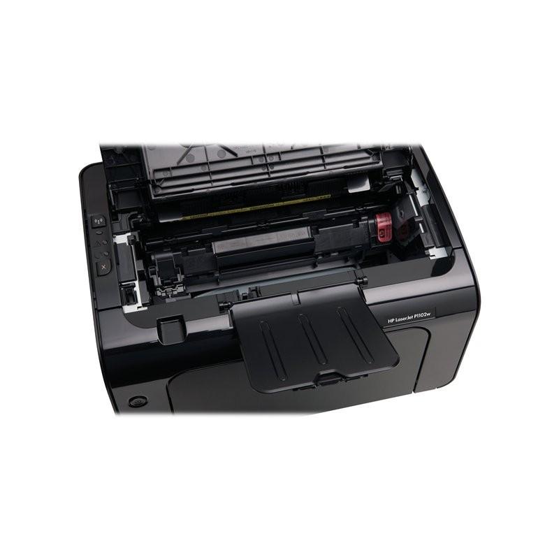 imprimante laser noir blanc hp laserjet p1102w. Black Bedroom Furniture Sets. Home Design Ideas