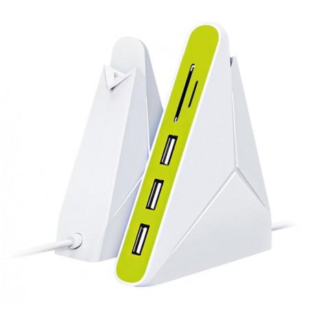 Hub Platinet Omega 3 ports + Lecteur de cartes