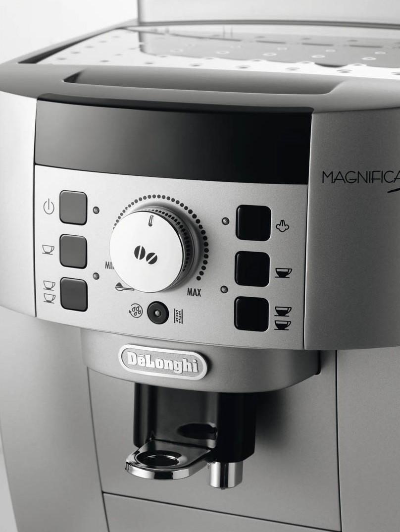 machine espresso delonghi magnifica s ecam 22110sb 1450w argent. Black Bedroom Furniture Sets. Home Design Ideas