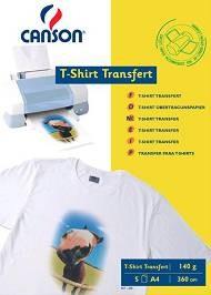 5x papiers transfert t shirt canson a4. Black Bedroom Furniture Sets. Home Design Ideas
