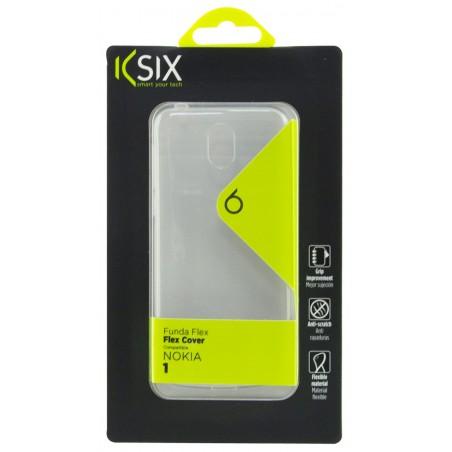 Etui TPU Ksix Flex Pour Nokia 1 / Transparent