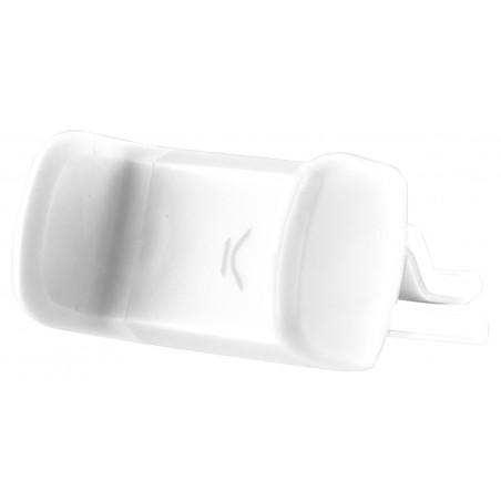 Support voiture rotatif Ksix pour Smartphone / Blanc