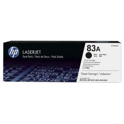 Pack de 2 toners Original HP LaserJet 83A / Noir