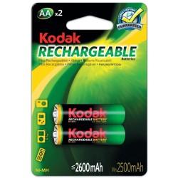 2x Piles Rechargeables Kodak AA 2600 mAh