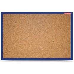 Tableau d'affichage en Liège cadre bois 30 x 40 / Bleu Foncé