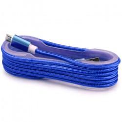 Câble Tissu en nylon Tressé USB vers Micro USB / Bleu