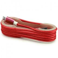 Câble Tissu en nylon Tressé USB vers Micro USB / Rouge