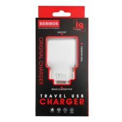 Adaptateur Secteur BEBIBOS 2 USB 2.4A / Blanc