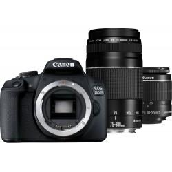 Appareil Photo Reflex Canon EOS 2000D + EF-S 18-55 mm IS II + Objectif EF 75-300mm III