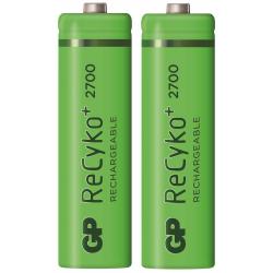 2x Piles rechargeables GP ReCyko+ 2700mAh AA
