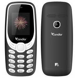 Téléphone Portable Condor F6 / Double SIM / Noir + SIM Offerte