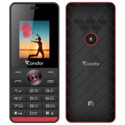 Téléphone Portable Condor F5 / Double SIM / Noir & Rouge + SIM Offerte