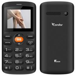 Téléphone Portable Condor F SENIOR / Double SIM / Noir + SIM Offerte