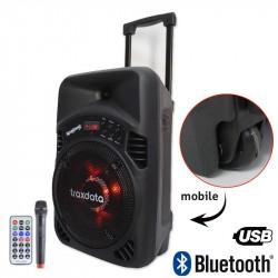 Mini Haut-parleur mobile avec Bluetooth et micro sans fil Traxdata TRX-B08