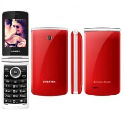 Téléphone Portable Evertek Clam / Double SIM / Rouge