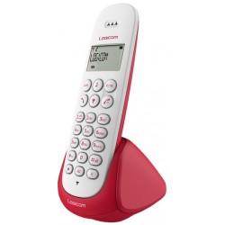 Téléphone DECT Sans Fil Logicom Aura 150 / Rouge