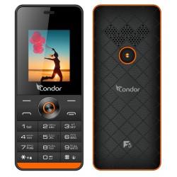 Téléphone Portable Condor F5 / Double SIM / Noir & Orange + SIM Offerte