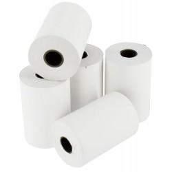 Lot de 5 bobines papier thermique 55 g / 57 x 40 x 12 mm