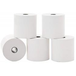 Lot de 5 bobines papier thermique 55 g / 57 x 60 x 12 mm