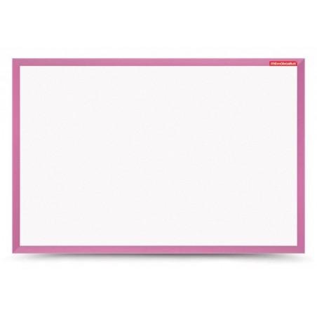 Tableau Blanc magnétique cadre en bois 60 x 40 / Rose