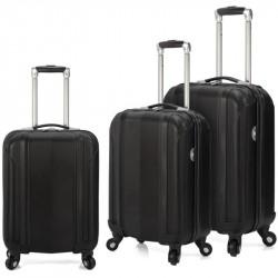 Set de 3 valises à roulettes BENZI BZ4872 / Noir