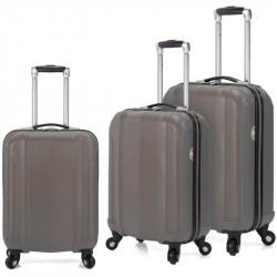 Set de 3 valises à roulettes BENZI BZ4872 / Gris